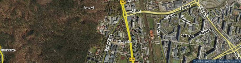 Zdjęcie satelitarne Nadwodna ul.