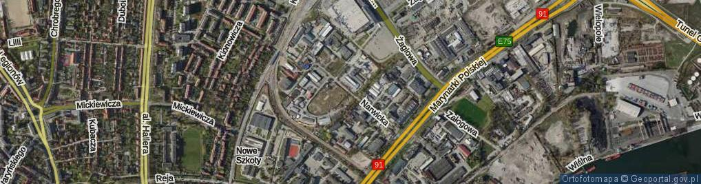 Zdjęcie satelitarne Narwicka ul.