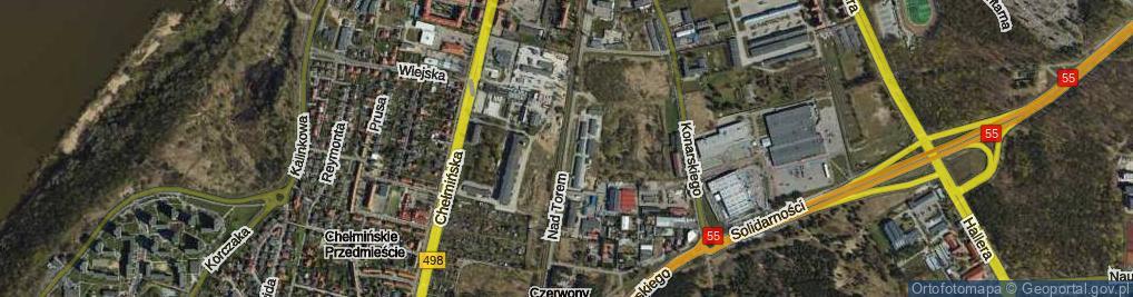 Zdjęcie satelitarne Nad Torem ul.