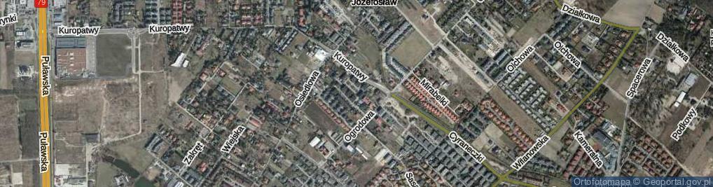 Zdjęcie satelitarne Narcyzów ul.