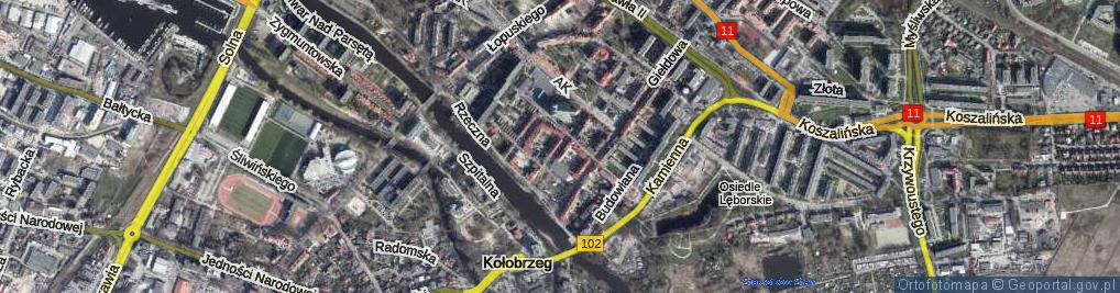 Zdjęcie satelitarne Narutowicza Gabriela ul.