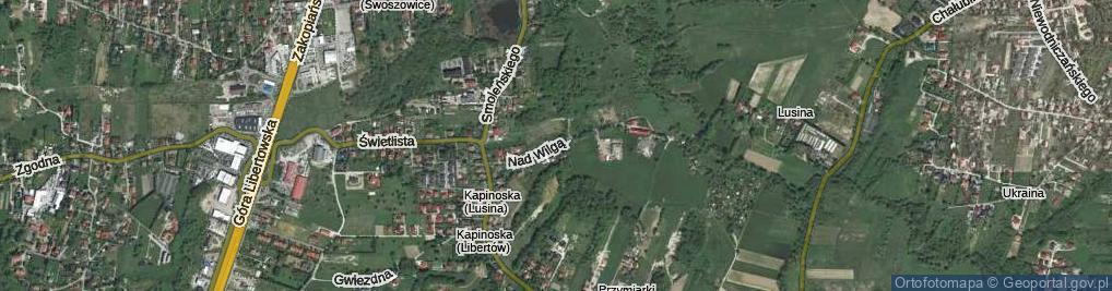 Zdjęcie satelitarne Nad Wilgą ul.