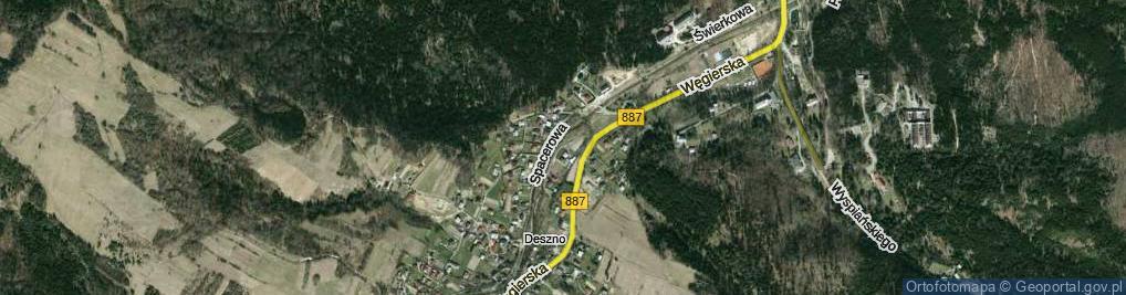 Zdjęcie satelitarne Nad Wodospadem ul.