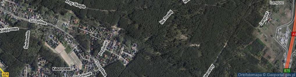 Zdjęcie satelitarne Na Przełaj ul.