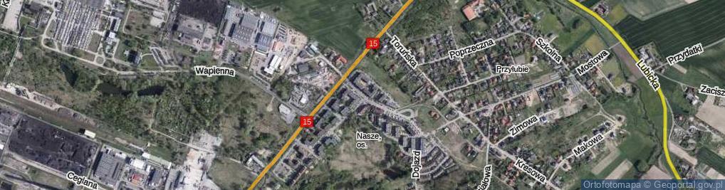 Zdjęcie satelitarne Nad Strugą ul.