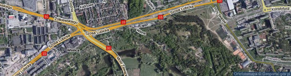 Zdjęcie satelitarne Nad Zatoką ul.