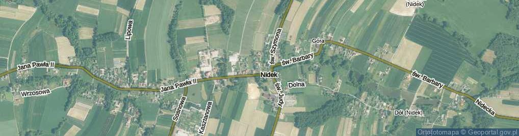 Zdjęcie satelitarne Nidek ul.