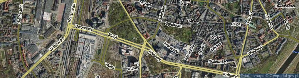 Zdjęcie satelitarne Niezłomnych ul.