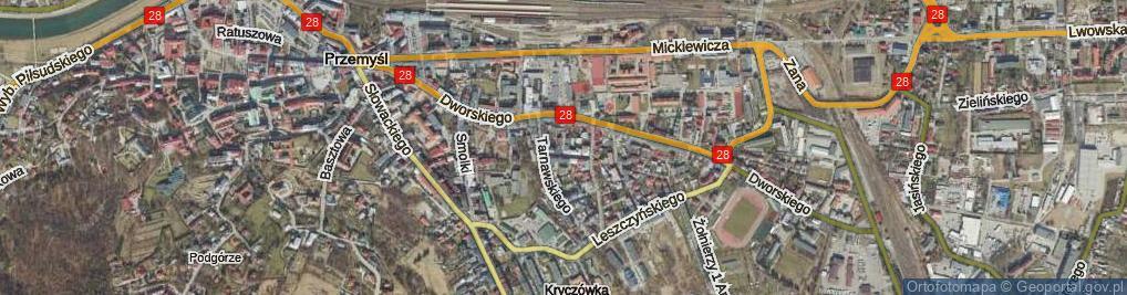 Zdjęcie satelitarne Niewiadomskiego Stanisława ul.