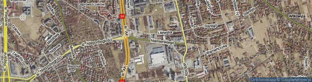 Zdjęcie satelitarne Niemierskiego Jana ul.