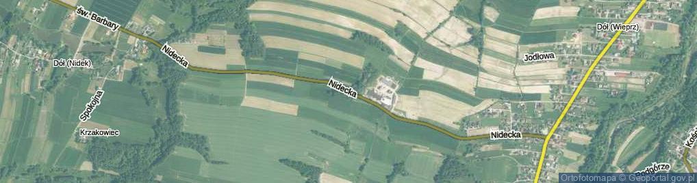 Zdjęcie satelitarne Nidecka ul.