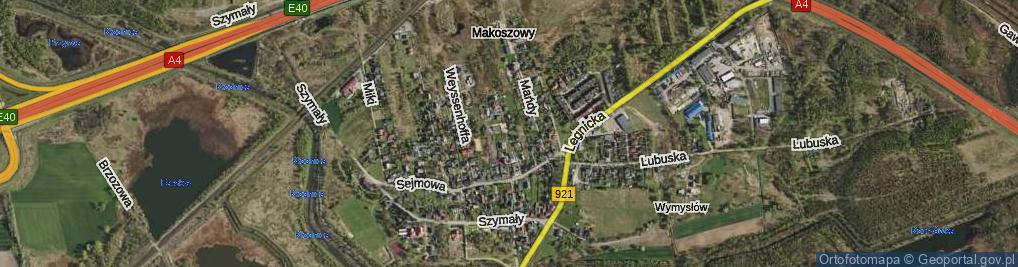 Zdjęcie satelitarne Niedoby Karola ul.