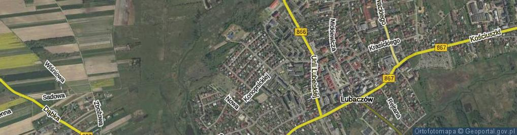 Zdjęcie satelitarne Nowickiego Zygmunta ul.