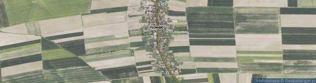 Zdjęcie satelitarne Nowaki ul.