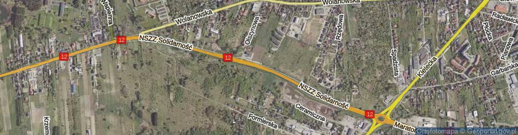 Zdjęcie satelitarne NSZZ Solidarność ul.