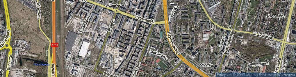 Zdjęcie satelitarne Obrzeżna ul.