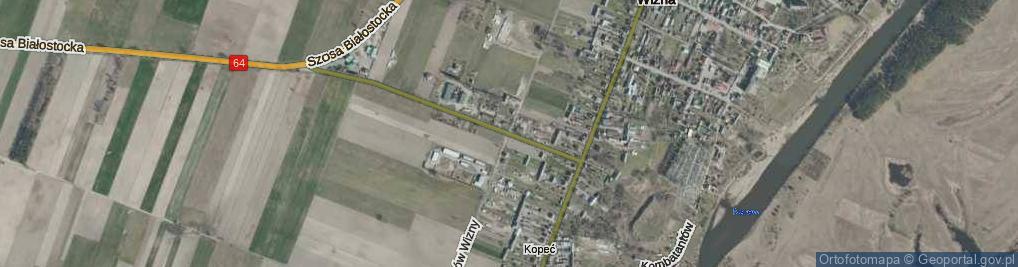Zdjęcie satelitarne Obrońców Wizny ul.
