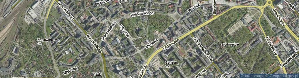Zdjęcie satelitarne Odeska ul.