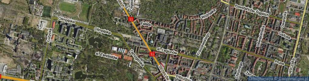 Zdjęcie satelitarne Odlanickiej-Poczobutt Bożenny ul.