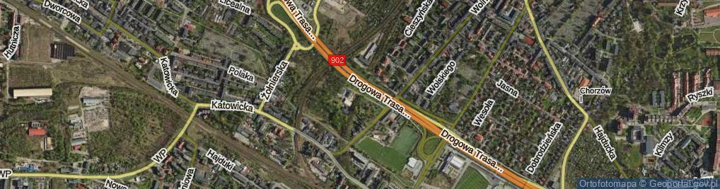Zdjęcie satelitarne Odległa ul.