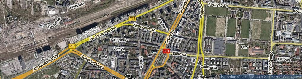 Zdjęcie satelitarne Odrzykońska ul.