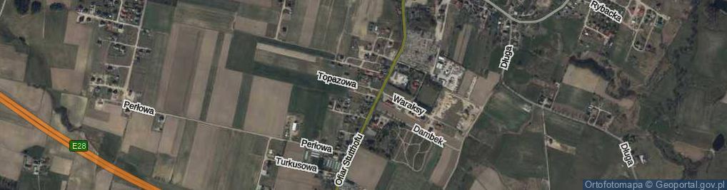 Zdjęcie satelitarne Ofiar Grudnia 1970 r. ul.