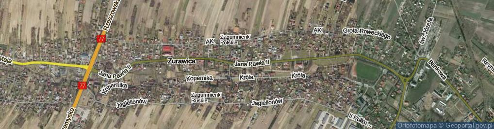 Zdjęcie satelitarne Ojca Świętego Jana Pawła II ul.