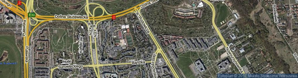 Zdjęcie satelitarne Okaryny ul.