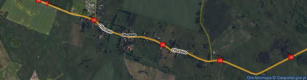 Zdjęcie satelitarne Olszewo ul.