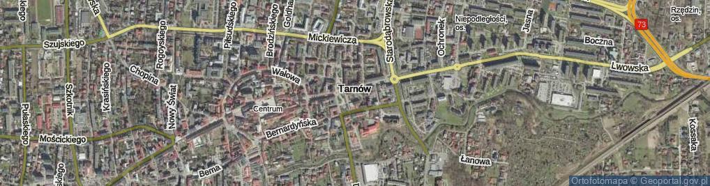Zdjęcie satelitarne Olejarska ul.