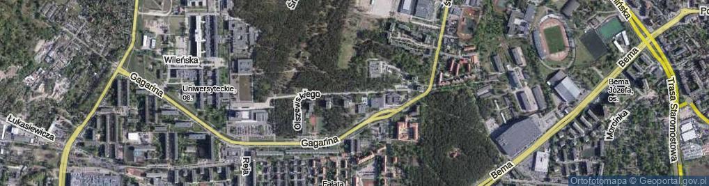 Zdjęcie satelitarne Olszewskiego Karola ul.