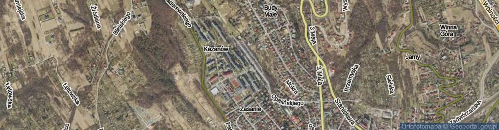 Zdjęcie satelitarne Opalińskiego Kazimierza ul.