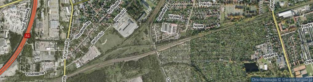 Zdjęcie satelitarne Opawska ul.