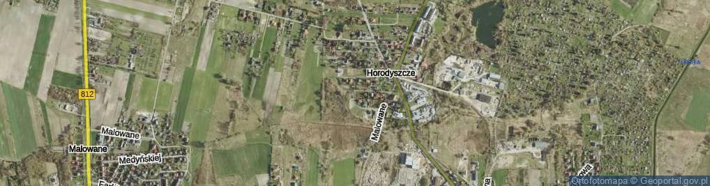 Zdjęcie satelitarne Orlińskiej Wandy ul.