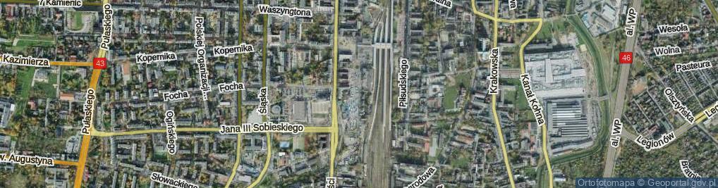 Zdjęcie satelitarne Orzechowskiego Stanisława ul.