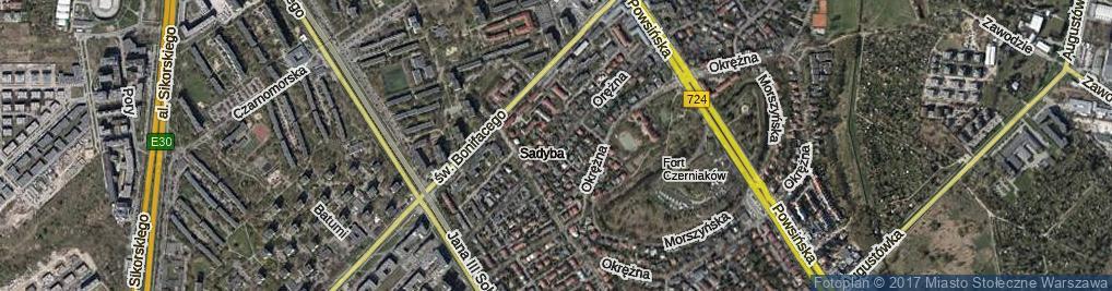 Zdjęcie satelitarne Orężna ul.