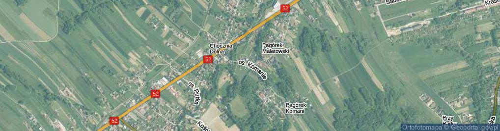 Zdjęcie satelitarne Osiedle Komanie os.