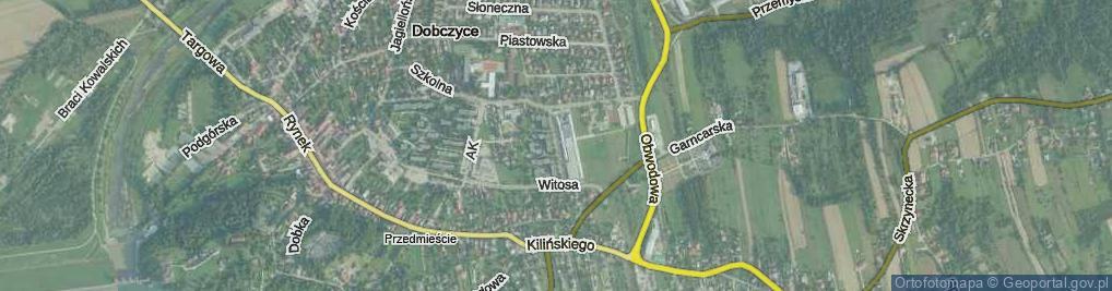 Zdjęcie satelitarne Osiedle Piastowskie os.