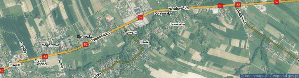 Zdjęcie satelitarne Osiedle Kuwik os.