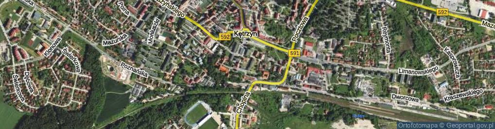 Zdjęcie satelitarne Osińskiego Ludwika ul.