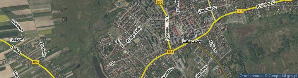 Zdjęcie satelitarne Osiedle Jagiellonów os.