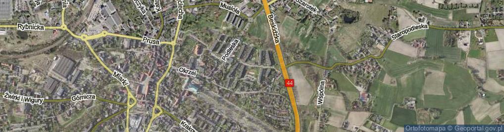 Zdjęcie satelitarne Osiedle Kochanowskiego Jana os.