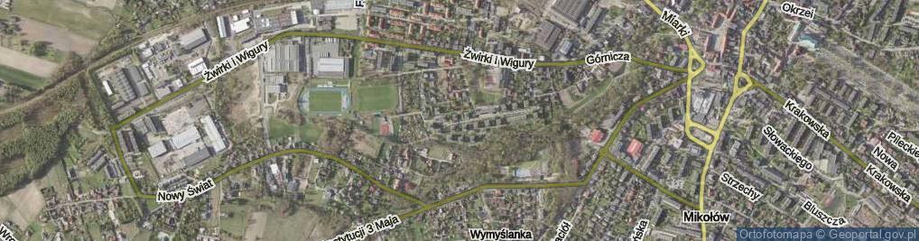 Zdjęcie satelitarne Osiedle przy Plantach os.