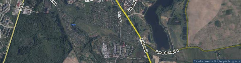Zdjęcie satelitarne Osiedle Lesk os.