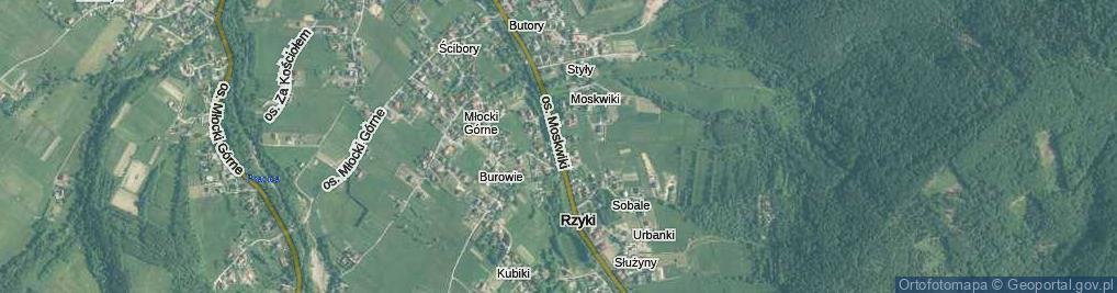 Zdjęcie satelitarne Osiedle Moskwiki os.