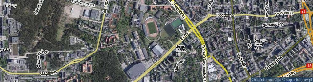 Zdjęcie satelitarne Osmańskiego Kazimierza ul.