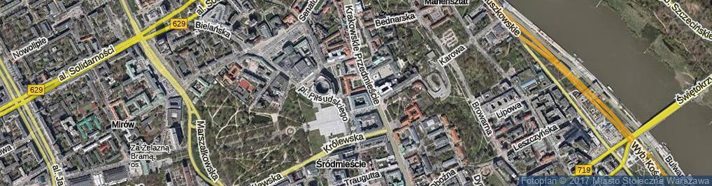Zdjęcie satelitarne Ossolińskich ul.