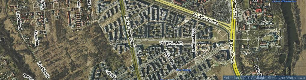 Zdjęcie satelitarne Oś Królewska os.