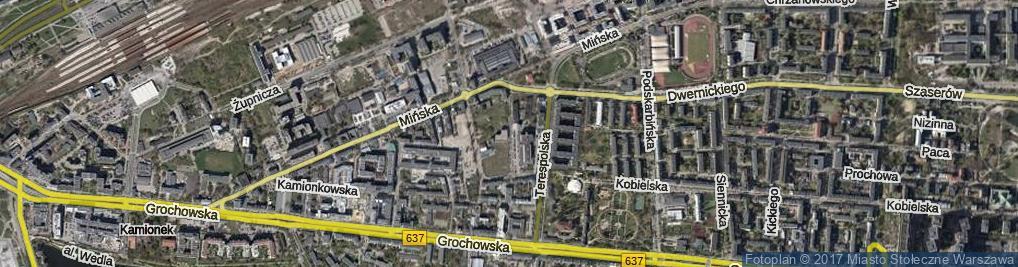 Zdjęcie satelitarne Owsiana ul.