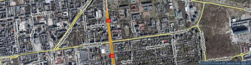 Zdjęcie satelitarne Park Matejki Jana park.